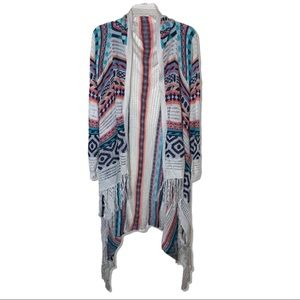 Anthropologie Tribal Print Cardigan